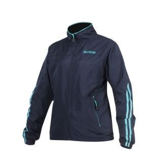 【FIRESTAR】女立領磨毛裏夾克-風衣外套 防潑水 防風(丈青水藍)