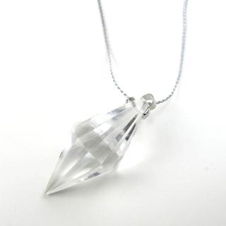 【開運工場】天然白水晶靈擺長鍊(可挑選鍊長)
