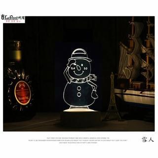 【LEPONT】北歐3D立體 USB LED創意小夜燈-雪人