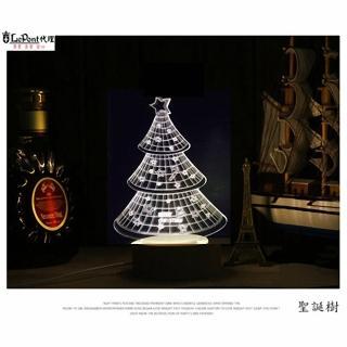 【LEPONT】北歐3D立體 USB LED創意小夜燈-聖誕樹