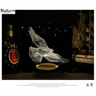 【LEPONT】北歐3D立體 USB LED創意小夜燈-老鷹