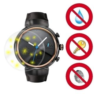 【D&A】ASUS ZenWatch 3 / WI503Q專用日本NEW AS玻璃奈米5H 螢幕保護貼(超值2入)