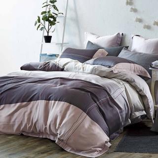 【SANDRA仙朵拉】天絲TENCEL雙人七件式兩用被床罩組(紳士格調 雙人5x6.2尺)