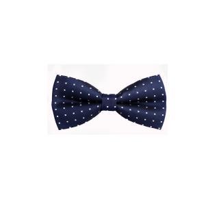 【拉福】藍底白叉叉紋結婚領結糾糾(藍色)  拉福