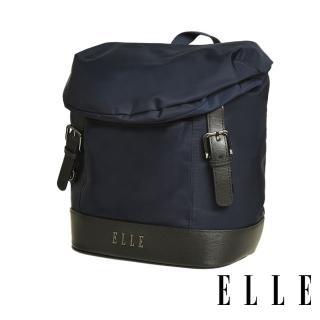 【ELLE】時光旅人系列-大容量10吋IPAD 直式休閒手提/斜背包(午夜藍 EL83483-08)