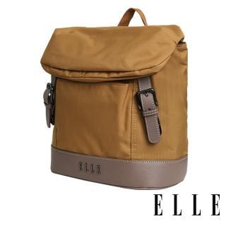 【ELLE】時光旅人系列-大容量10吋IPAD 直式休閒手提/斜背包(日光駝 EL83483-49)