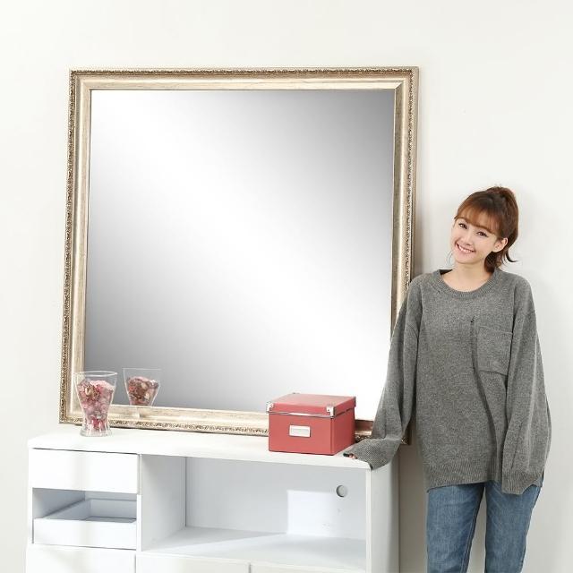 【BuyJM】新古典方型浮雕穿衣鏡-壁鏡-玄關鏡鏡(120x120公分)