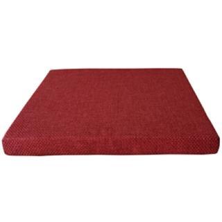 【宜欣居傢飾】編織格紋-精緻坐墊*2入*紅-55*55*5cm(高密度記憶坐墊/沙發墊/椅墊/座墊/台灣製*免運費)
