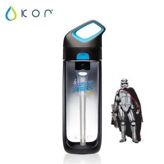 【美國KOR water】Nava Sport夜光星戰瓶650ml(法斯瑪隊長/黑藍色)