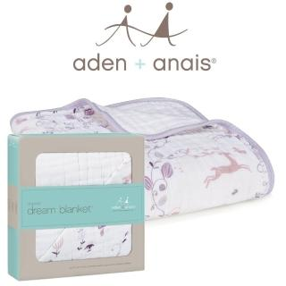 【美國Aden+Anais】有機棉四層厚毯(粉紫童話9143)