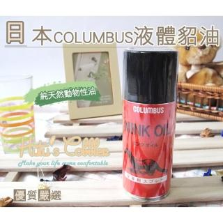 【○糊塗鞋匠○ 優質鞋材】L33 日本Columbus液體貂油噴霧(罐)