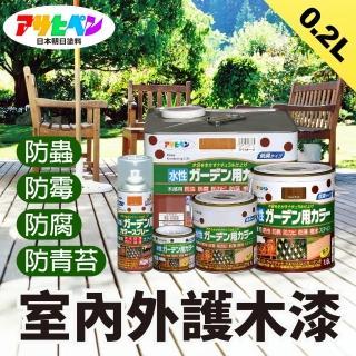 【日本Asahipen】日本製室內/庭院防蟲防腐護木漆0.2L5色