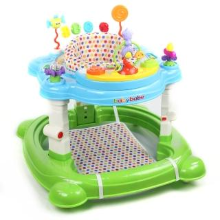 【BabyBabe】4合1嬰幼兒學步車(搖馬、跳跳椅、學步車、餐椅)