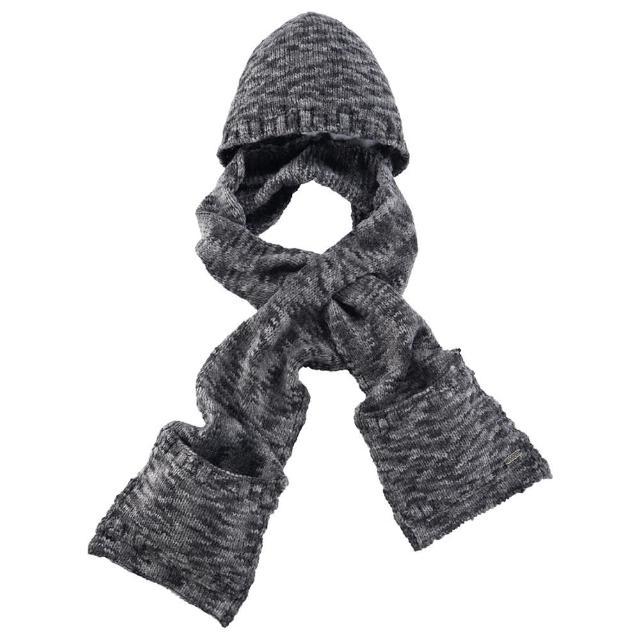 【ATUNAS 歐都納】浪漫韓系保暖帽含圍巾(A-A1545 黑灰)
