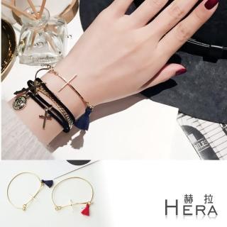 【Hera】赫拉 金屬十字架次流蘇手環/手鐲/手鏈(二色)
