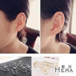 【Hera】赫拉 雙線造型無耳洞耳環耳扣耳骨夾(2色2入)