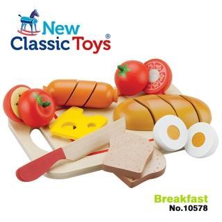 【聖誕獨家優惠】荷蘭New Classic Toys輕食早餐切切樂10件組(10578)