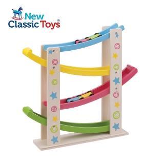 【荷蘭New Classic Toys】幼兒寶寶木製玩具-汽車滑坡道(10540)