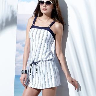 【沙兒斯】泳裝兩件式連身裙式女泳裝(B92635)