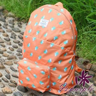 【iSPurple】動物馬卡龍*摺疊防水後背包/橘松鼠