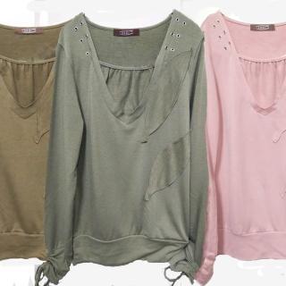 【RH雪莉亞】亮麗造型棉質上衣(長袖棉上衣)