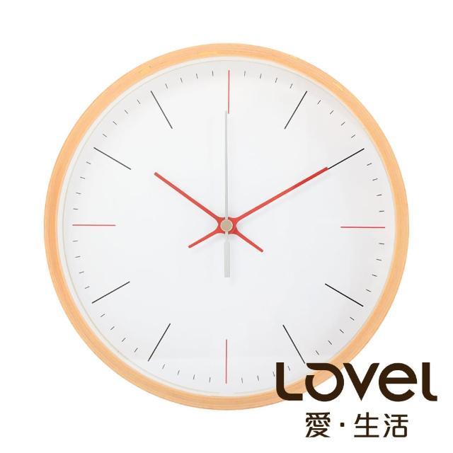 【LOVEL】20cm摩登簡約原木靜音掛鐘(W723FD-NT)