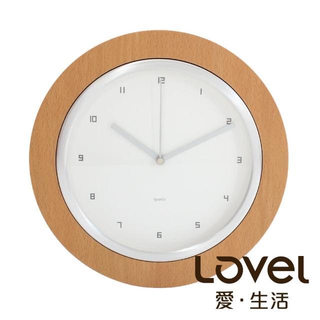 【LOVEL】26cm無印風格木框壁掛時鐘(W260-NT)