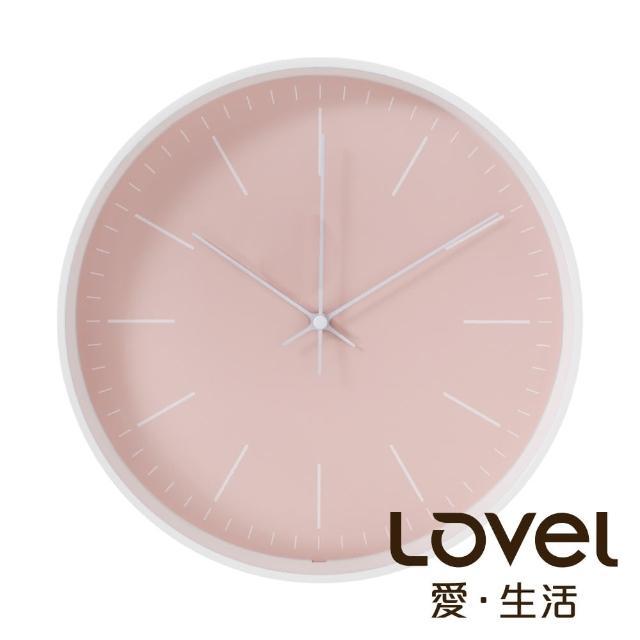 【LOVEL】Anderson'sPalette靜音機芯掛鐘-粉(T721-PK)