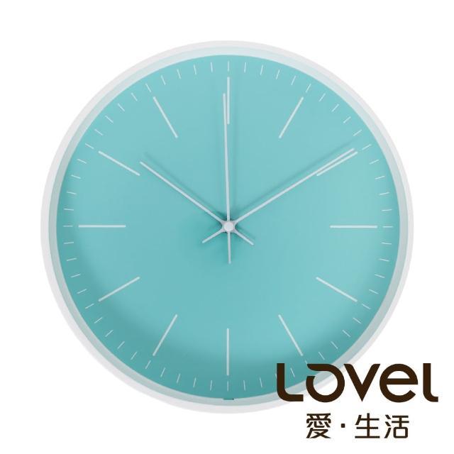 【LOVEL】Anderson'sPalette靜音機芯掛鐘-藍綠(T721-TN)