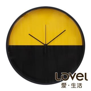 【LOVEL】30cm CHILDISH HORIZON靜音機芯掛鐘-正義黃黑(T721POK-YE)