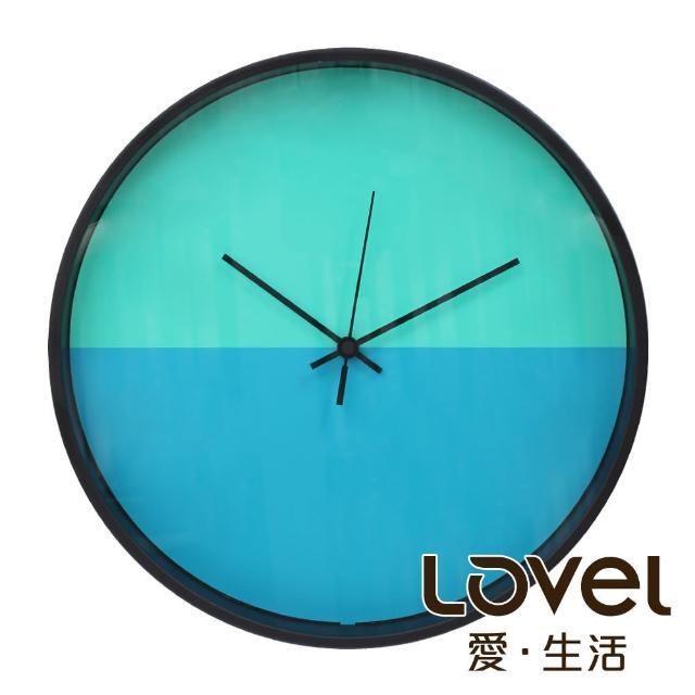 【LOVEL】30cm CHILDISH HORIZON靜音機芯掛鐘-藍綠拍檔(T721POK-BL)