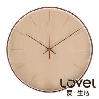 【LOVEL】25cm GOLDEN AGE靜音機芯掛鐘-膚色時光(T722CR-RG)