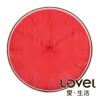 【LOVEL】25cm GOLDEN AGE靜音機芯掛鐘-夕色橙紅(T722RD-RG)