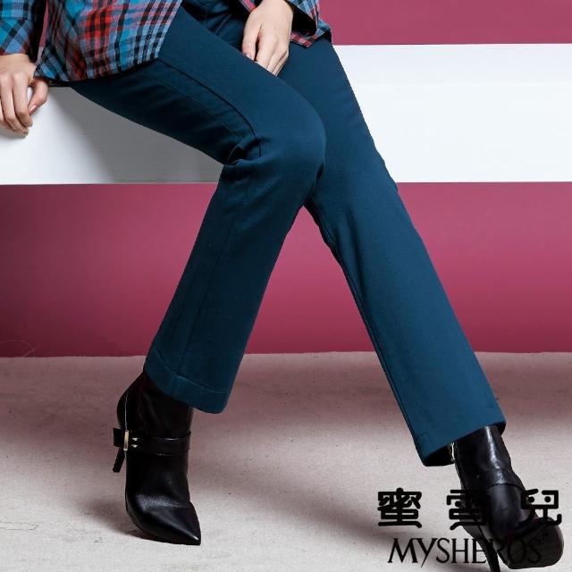 【蜜雪兒mysheros】造型口袋直筒褲(藍)