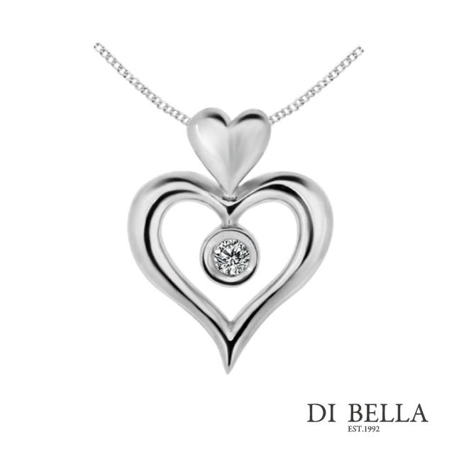 【DI BELLA】天使之戀 天然鑽石墜鍊(3分)