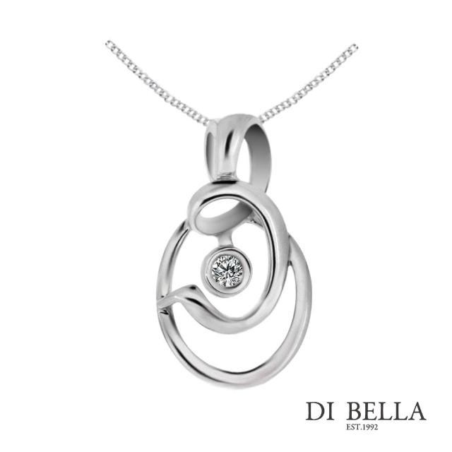 【DI BELLA】圖騰之戀 天然鑽石墜鍊(3分)