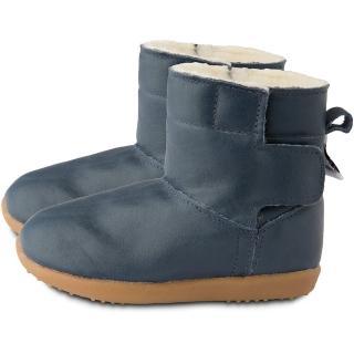【英國 shooshoos】健康無毒真皮手工童鞋/靴子_經典深藍_102761(公司貨)