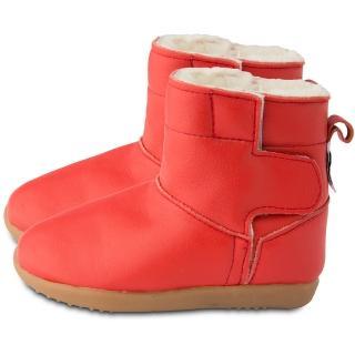 【英國 shooshoos】健康無毒真皮手工童鞋/靴子_經典紅_102760(公司貨)