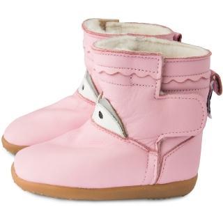 【英國 shooshoos】健康無毒真皮手工童鞋/靴子_清新淡粉_102772(公司貨)