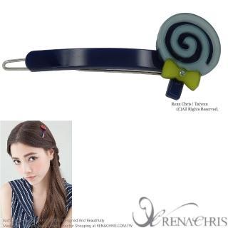 【Rena Chris】棒棒糖橫竿髮夾(Blue)