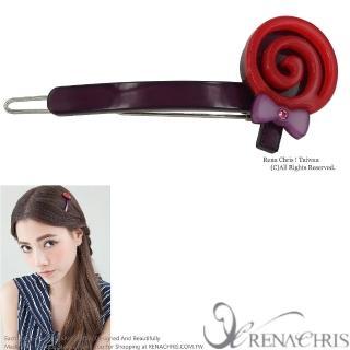 【Rena Chris】棒棒糖橫竿髮夾(Purple)