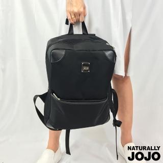 【NATURALLY JOJO】基本方型後背包(黑)