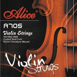【美佳音樂】Alice A705 小提琴套弦(進口不鏽鋼絲/高級鋼芯/鎳鉻合金纏弦)