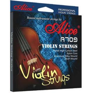 【美佳音樂】Alice A709 小提琴套弦(高級鍍層高碳鋼絲/優質尼龍弦芯/鋁合金純銀纏弦/鍍古銅珠)
