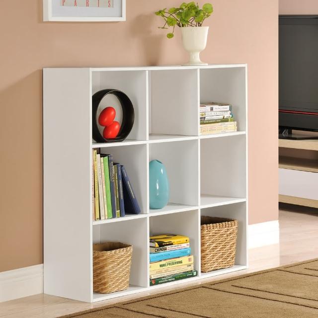 【FUN生活】DIY菲爾九格櫃-展示櫃-書櫃-收納櫃-隔間櫃(淺橡-深橡)