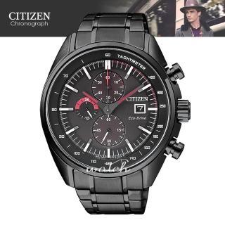 【CITIZEN 日系星辰】時尚潮流_不鏽鋼錶帶_光動能_三眼顯示_指針男錶(CA0595-54E)