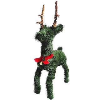 【聖誕裝飾品特賣】24吋綠色鈴鐺小鹿