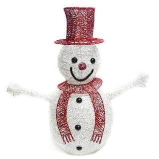 【聖誕裝飾品特賣】80cm 紅帽大雪人聖誕擺飾