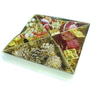 【聖誕裝飾品特賣】優雅銀色麋鹿對組(金紅色系)