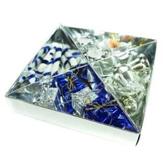 【聖誕裝飾品特賣】優雅銀色麋鹿對組(銀藍色系)